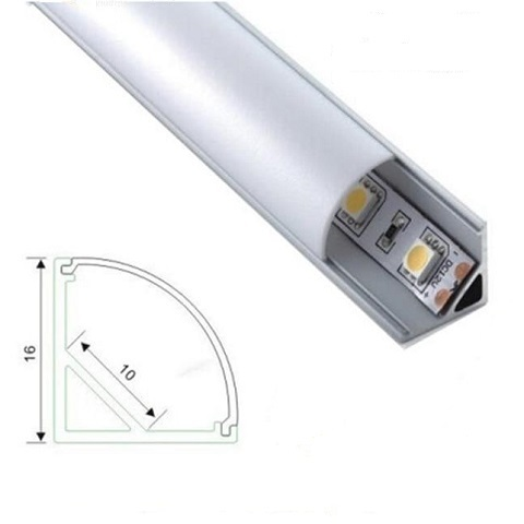 Угловой профиль для светодиодной ленты алюминиевый