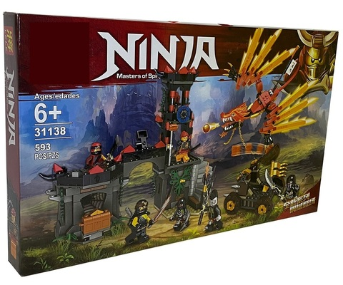 Конструктор Ниндзяго 31138 Нападение красного дракона 593 дет.