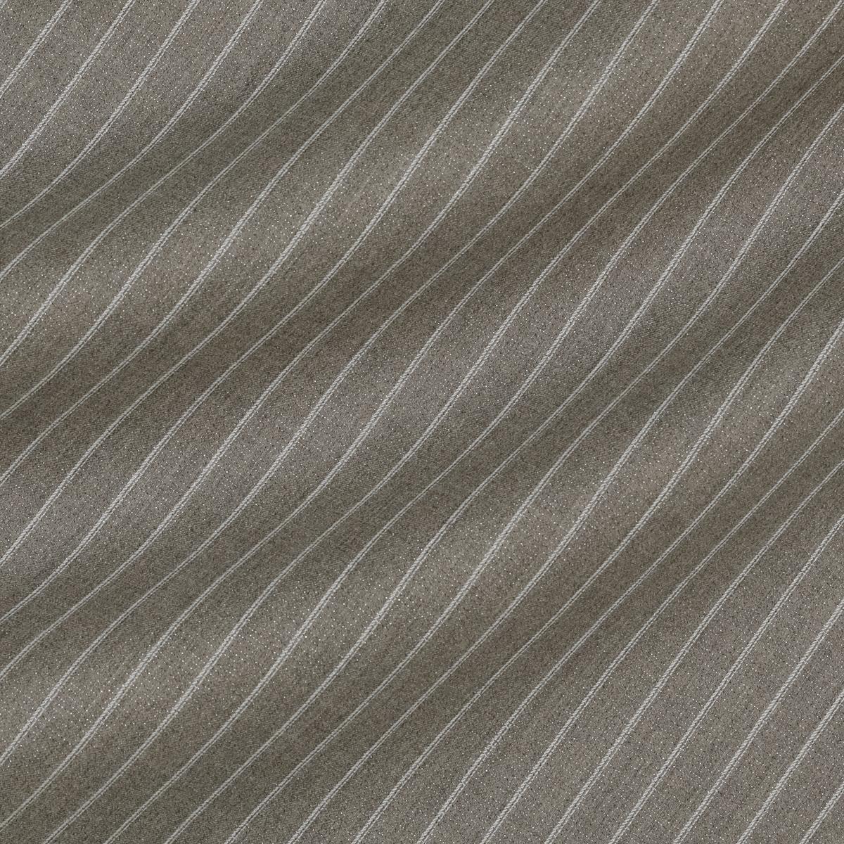 Шерстяная костюмная ткань натурального оттенка в тонкую полоску
