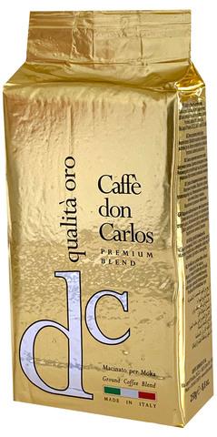 Carraro Don Carlos Qualita Oro (Куалита Оро) 250г. молотый кофе