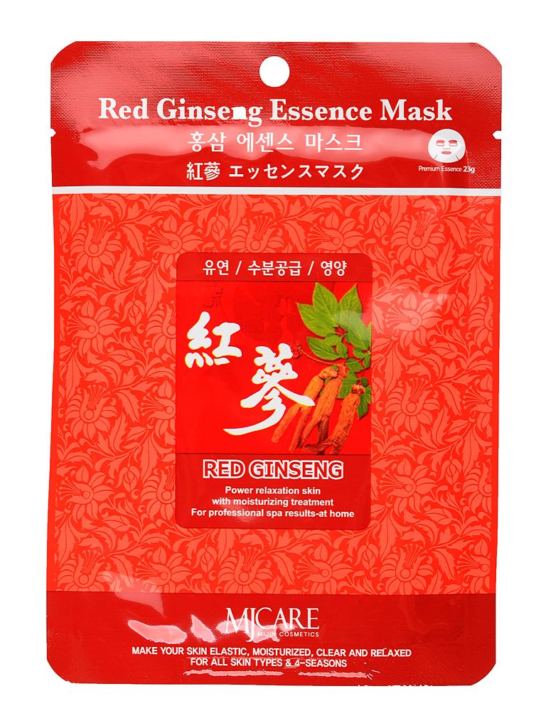 MIJIN Маска тканевая для лица красный женьшень Red Ginseng Essence Mask МЖ10.jpg