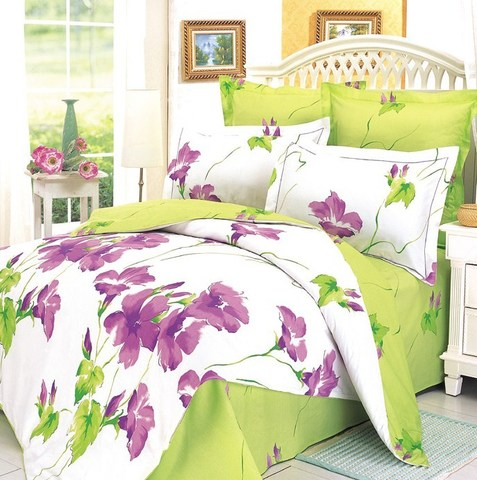 Сатиновое постельное бельё  2 спальное  В-3