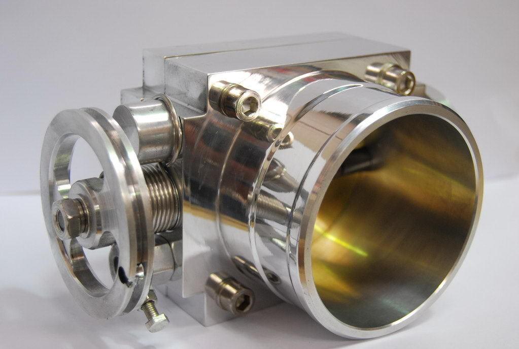 Дроссельная заслонка 100 мм универсальная увеличенного диаметра