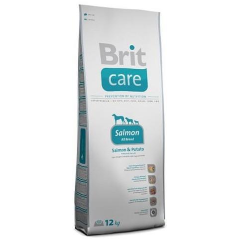 12 кг. BRIT Care Сухой корм для взрослых собак с лососем и картофелем Salmon&Potato