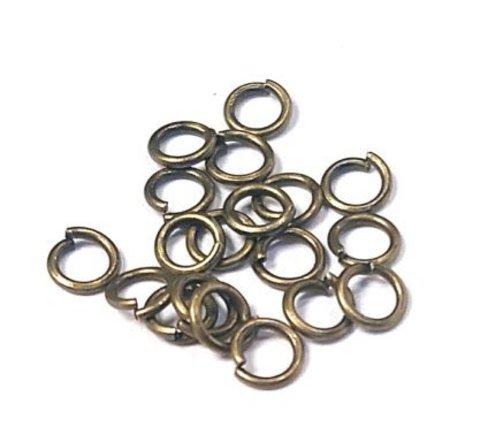Кольцо одинарное 5 мм цвет бронза цена за 25 шт