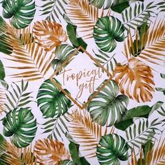 Бумага упаковочная глянцевая двухсторонняя «Тропики», 70 × 100 см, 5 листов, 1 уп.