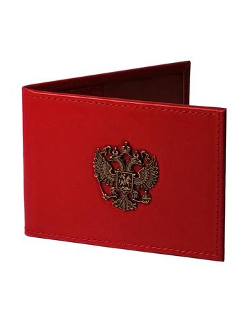 Обложка для удостоверения   Литой Герб   Красный