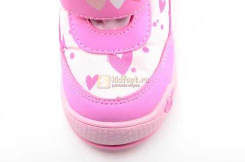 Зимние сапоги Минни Маус (Minnie Mouse) на липучках с мембраной для девочек, цвет розовый. Изображение 11 из 13.