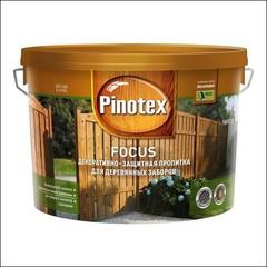 Древозащитное средство для защиты заборов Pinotex FOCUS (красное дерево)