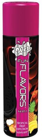 Разогревающий лубрикант Fun Flavors 4-in-1 Tropical Fruit Explosion с ароматом тропических фруктов - 121 мл.
