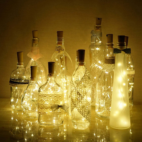 Гирлянда LED HappyHome Пробка для бутылки 2 метра, 20 LED, цвет теплый белый 282721252