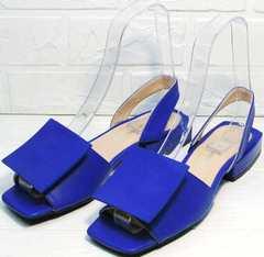 Синие сандали босоножки с открытым носом и пяткой Amy Michelle 2634 Ultra Blue.