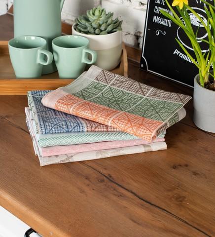 Вафельное полотенце изо льна и хлопка 50 х 70 см