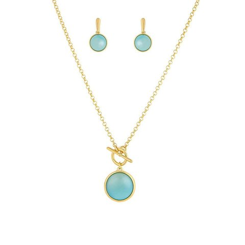 Комплект Pearl Blue Sky Agate S1560.21 BL/G
