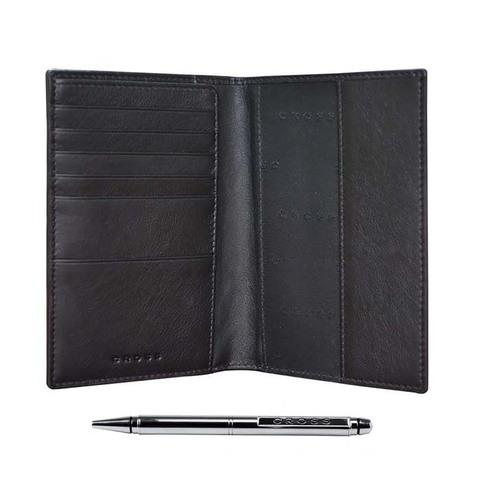 Обложка для документов Cross Nueva FV, черная, 14х11х1 см