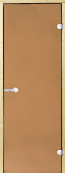 Дверь Harvia STG 8×21 коробка ольха, стекло бронза, фото 1