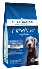 Сухой корм для щенков и молодых собак крупных пород, Arden Grange Puppy/Junior Large Breed, с курицей