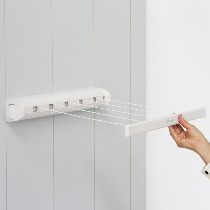Вытяжная настенная сушилка для белья (22 м навески), Белый, арт. 385728 - фото 1