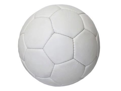 Мяч футбольный, цвет белый ( 5ти слойный, пресскожа с полимерным покрытием) Можно использовать для нанесения логотипов и автографов. :((12140)):