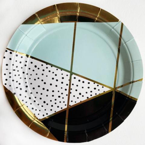 Тарелка Мятная Роскошь 17см 6 шт