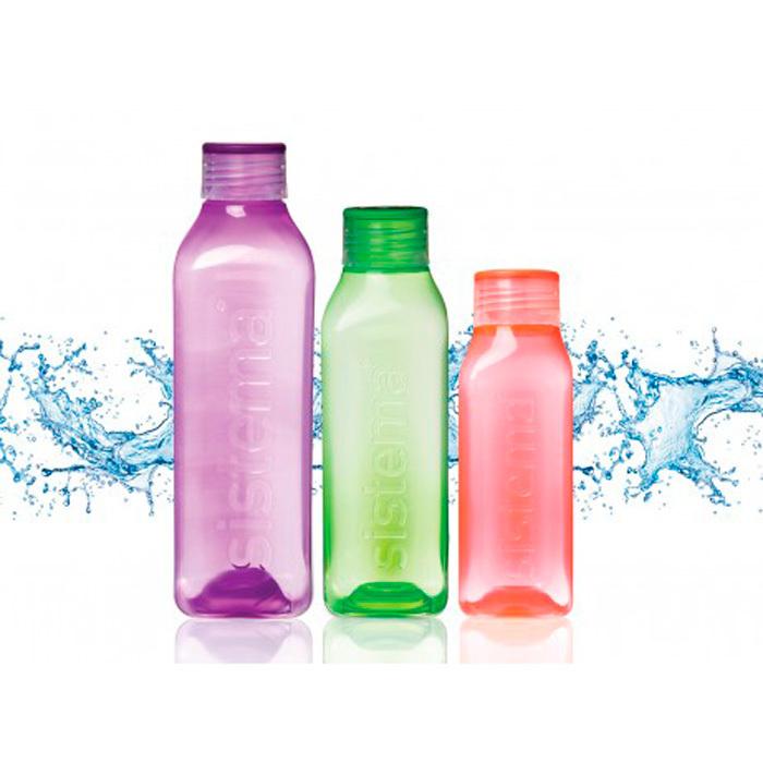 """Бутылка для воды Sistema """"Hydrate"""" 475  мл, цвет Красный"""