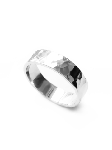 Серебряное кольцо 5 мм битое