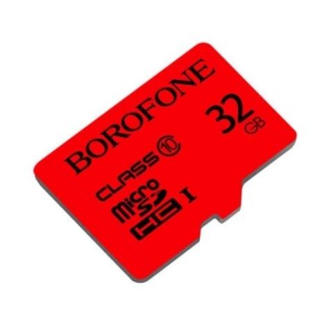 Yaddaş kartı \ Карта памяти \ Flash Card КАРТА ПАМЯТИ MICROSDHC BOROFONE I, 32GB, КРАСНЫЙ