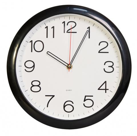 Часы настенные аналоговые Бюрократ WallC-R78P D29см черный