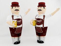 Аэромен с кружкой пива (машет рукой)