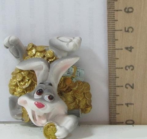 Магнит полистоун Удачливый кролик 293272 на пружин