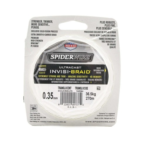 Плетеная леска Spiderwire Ultracast Invisi-Braid 8 Carrier 270м 0,35мм 36,5кг