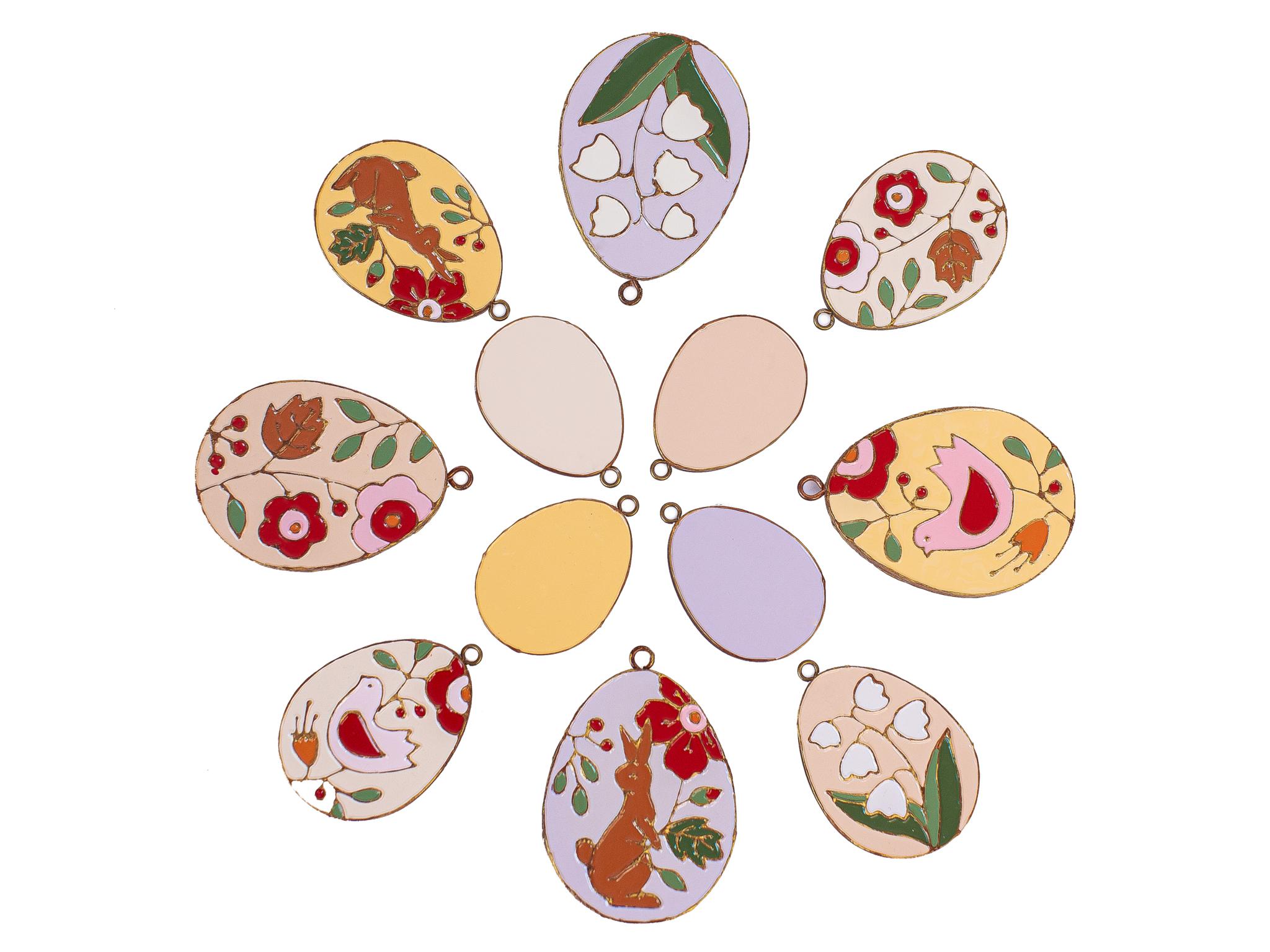 Набор из двенадцати Пасхальных Яиц разного размера