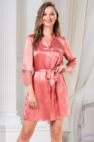 Рубашка халат на пуговицах MIA-Amore SHARON ШЕРОН 3807 коралл