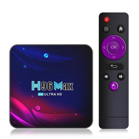 Смарт ТВ приставка H96 Max V11 RK3318 4К ULTRA HD TV BOX 4/64 Гб Андроид 11.0