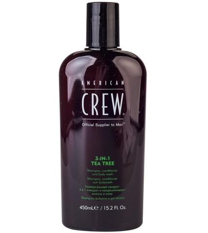 American Crew Tea Tree3-in-1 - Шампунь, кондиционер и гель для душа 3 в 1 450 мл