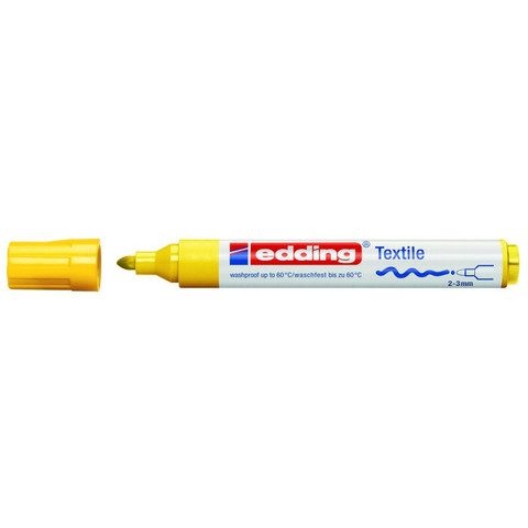 Маркер для текстиля Edding E-4500 жёлтый (толщина линии 3 мм)