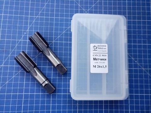 Метчик М26х1,5 (комплект 2шт) CSN223010 2N CS(115CrV3) Bucovice(CzTool) 110262