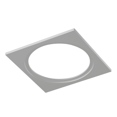 Рамка COMBO-1 квадратная одинарная черная белая