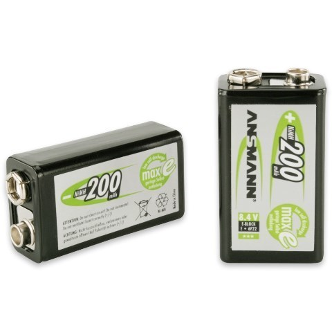 Аккумуляторы NiMH Max-E, E Крона (8.4V, 200mAh)