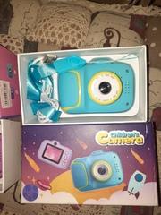 Детский фотоаппарат бирюзовый NEW