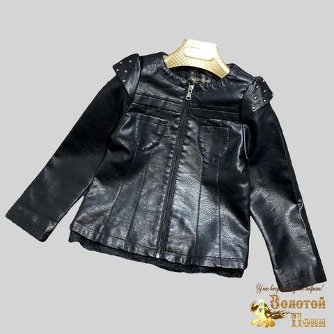 Куртка экокожа девочке (3-12) 210328-К-74020