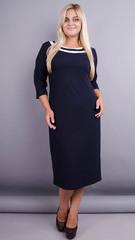 Вівіан. Оригінальна сукня великих розмірів. Синій.