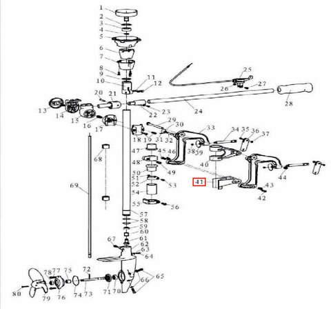 Кронштейн для лодочного мотора T3,5 Sea-PRO