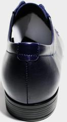 Туфли дерби кожаные синие IKOC Blue
