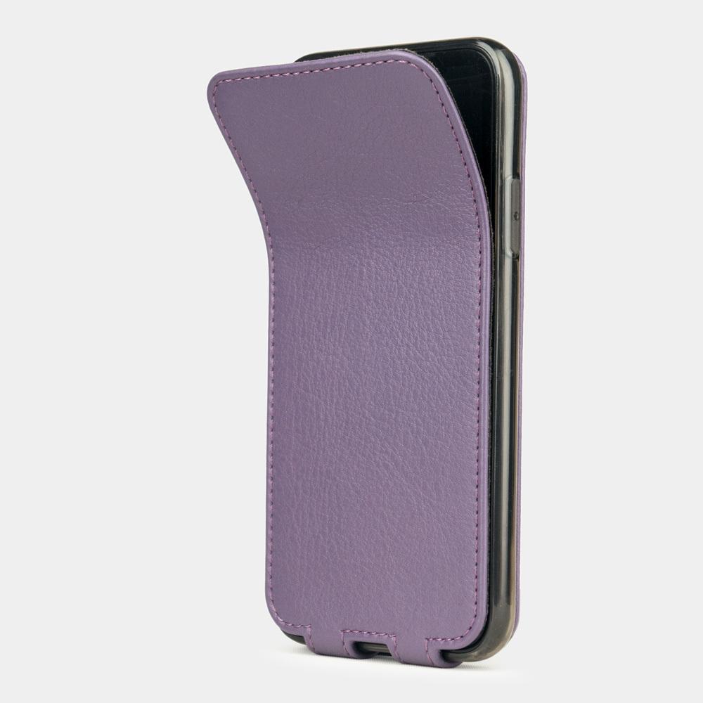 Чехол для iPhone X/XS из натуральной кожи теленка, фиолетового цвета