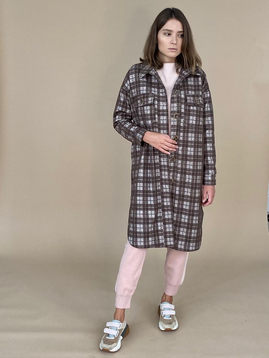 Пальто-рубашка, Ballerina, Nirvana w (шоколадная клетка)