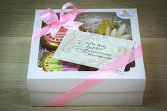 Подарочный набор HoneyForYou с крем-медом и букетиком из сухоцветов