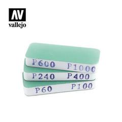 VALLEJO TOOLS: FLEXISANDER DUAL GRIT X3 (80X30X12MM)