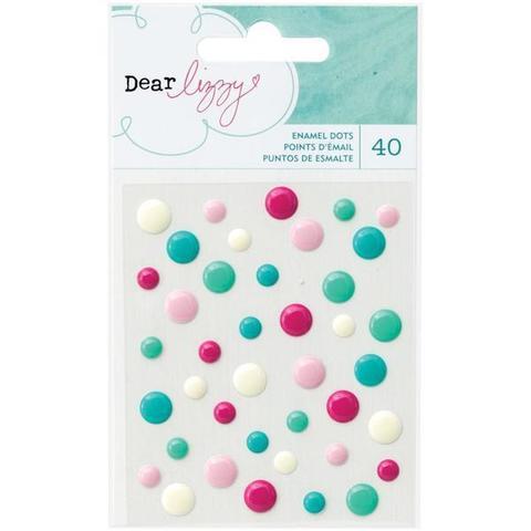 Капли dots из коллекции Serendipity Enamel Dots 40 шт