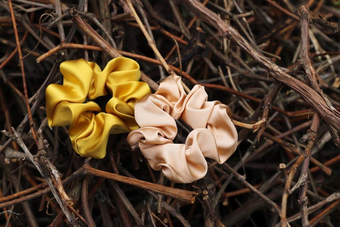 ВЫБОР ЦВЕТА Мягкие шелковые резинки для волос из натурального шелка